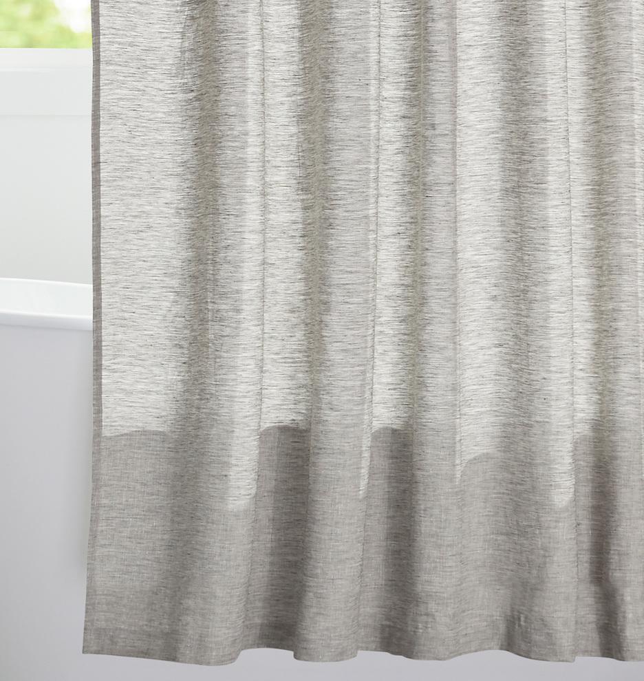 Gray Linen Shower Curtain Rejuvenation