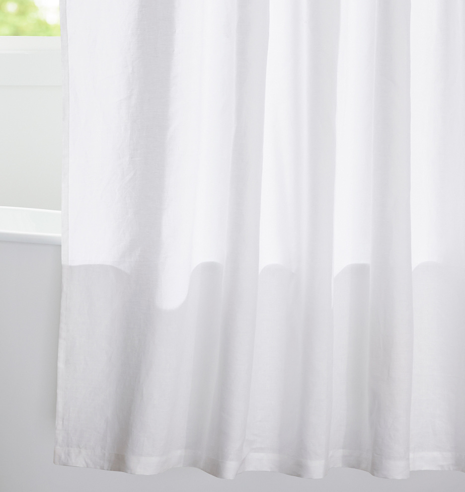 Product Description Elevate Your Bathroom With This Refined Yet Relaxed Linen Shower Curtain
