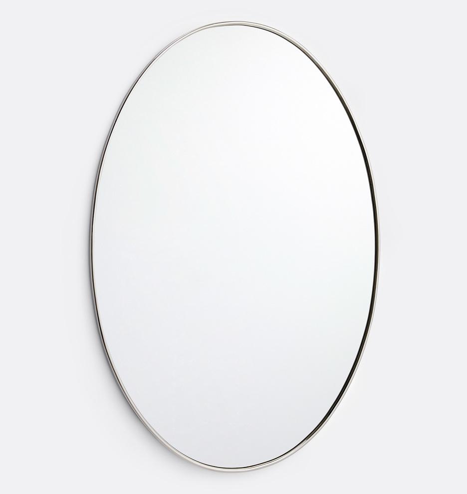 Oval Metal Framed Mirror | Rejuvenation