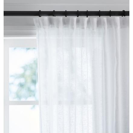 linen curtain panels. Sheer Linen Curtain Panel - White Panels