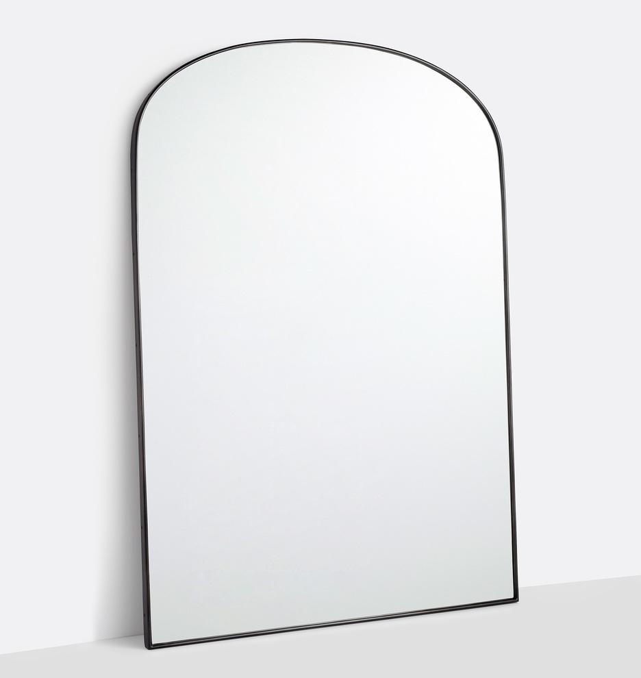 Arched Floor Metal Framed Mirror | Rejuvenation