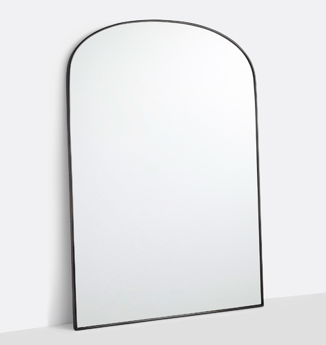 Arched Floor Metal Framed Mirror Rejuvenation