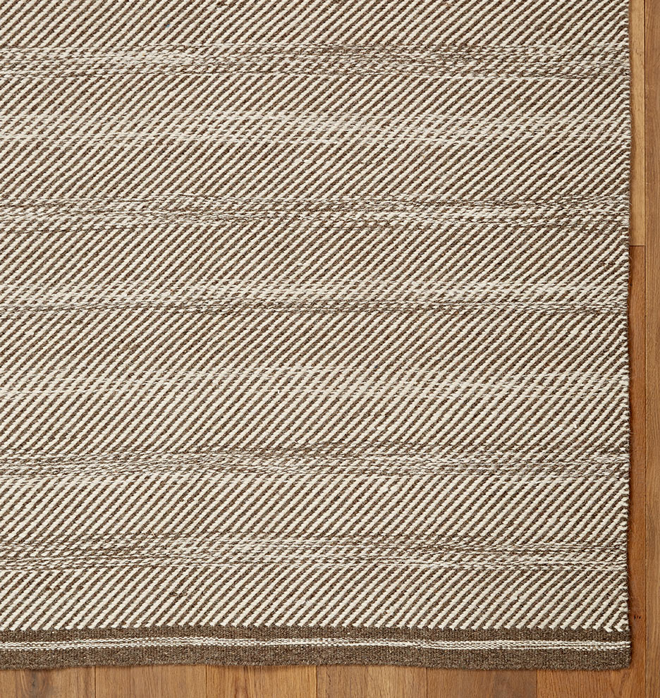 diagonal weave flatweave rug - gray | rejuvenation