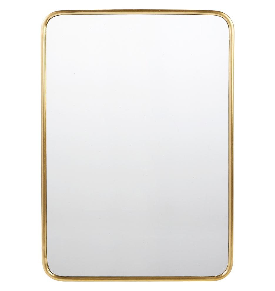 Rounded Rectangle Metal Framed Mirror | Rejuvenation