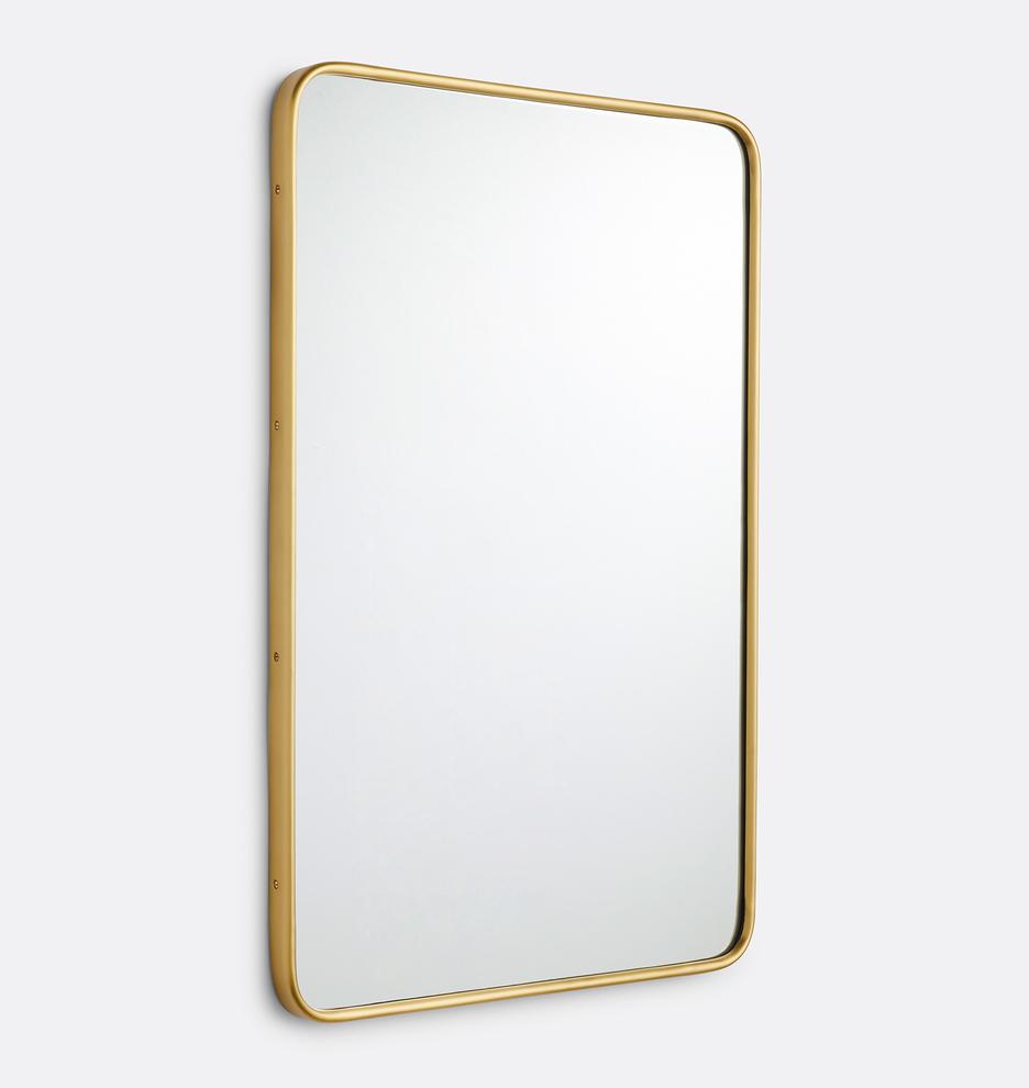 24 X 36 Rounded Rectangle Metal Framed Mirror Rejuvenation