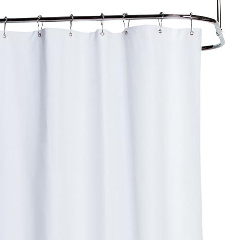 White Cotton Duck Cloth Shower Curtain