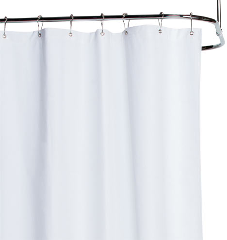 White Cotton Duck Cloth Shower Curtain