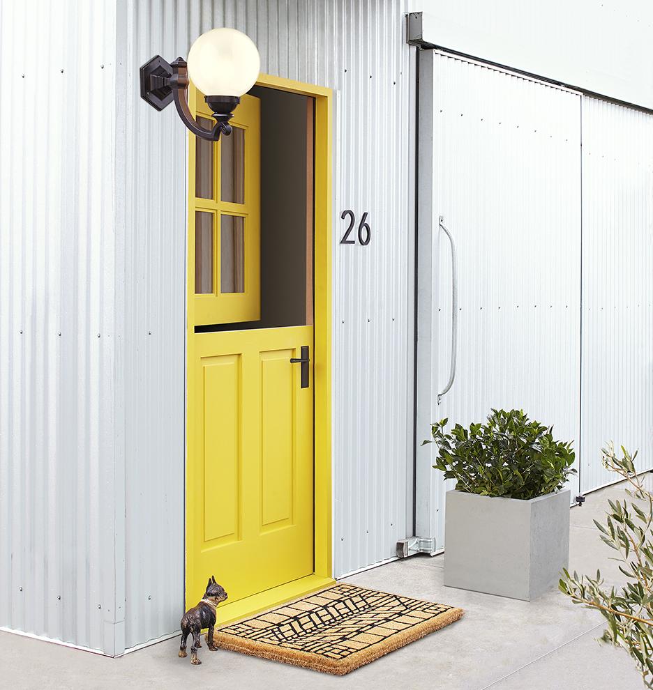 Craftsman Arrow Windowpane Doormat   Rejuvenation