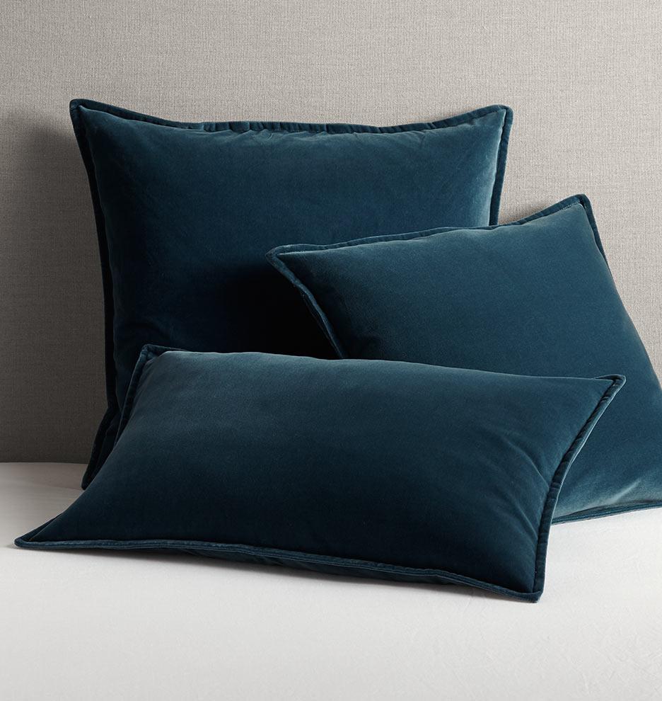 Italian Velvet Pillow Cover - Ocean Blue | Rejuvenation