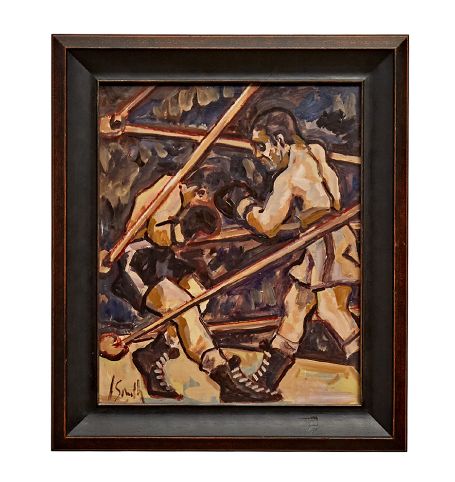 Original Boxing Painting by A  Smith