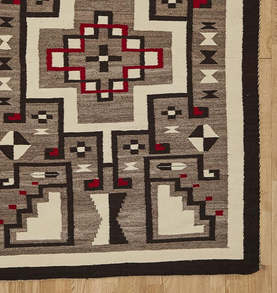 JB Moore Tuba City Storm Pattern Navajo Rug Rejuvenation