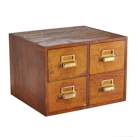 Vintage metal cabinets rejuvenation four drawer oak card catalog cabinet malvernweather Gallery