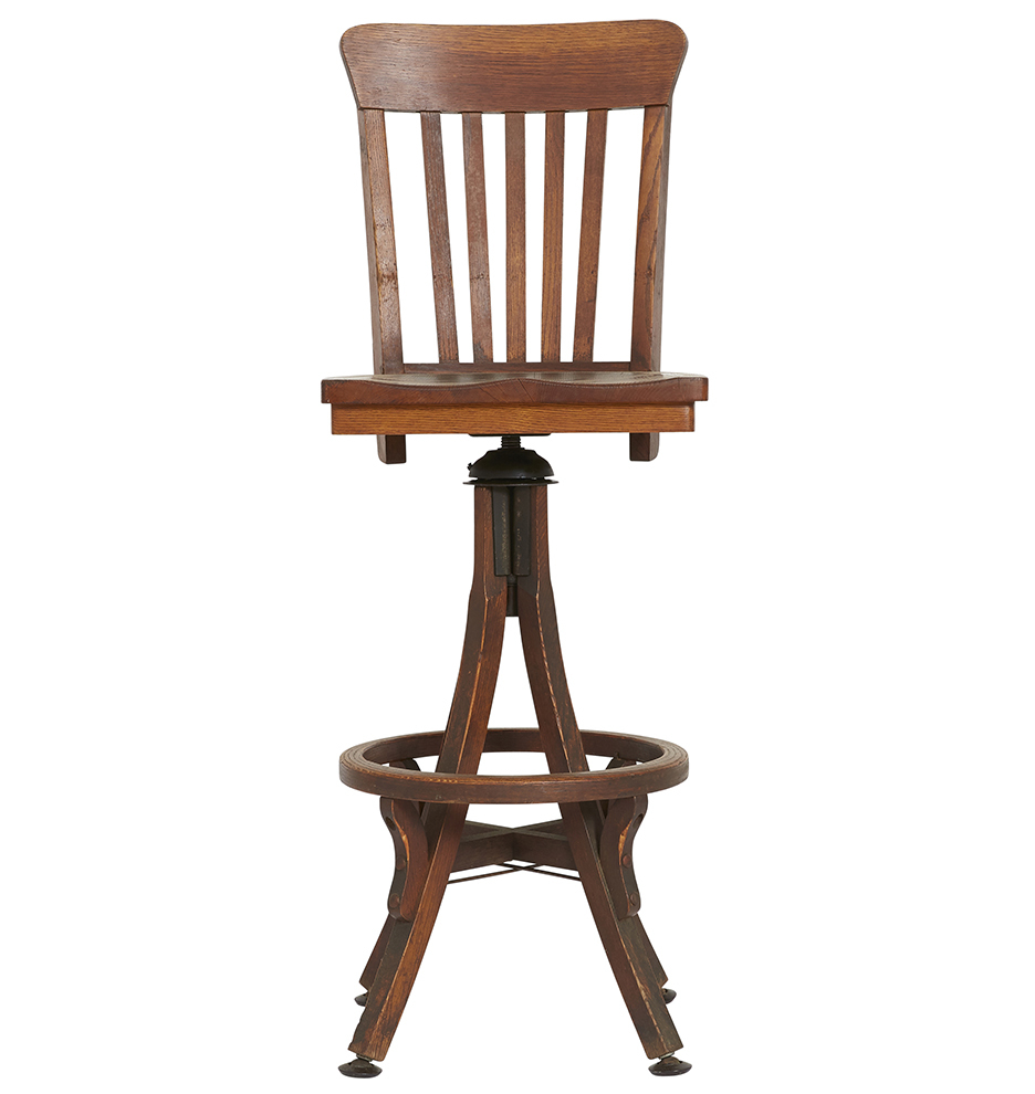 Fantastic Solid Oak Swiveling Adjustable Drafting Stool Ocoug Best Dining Table And Chair Ideas Images Ocougorg