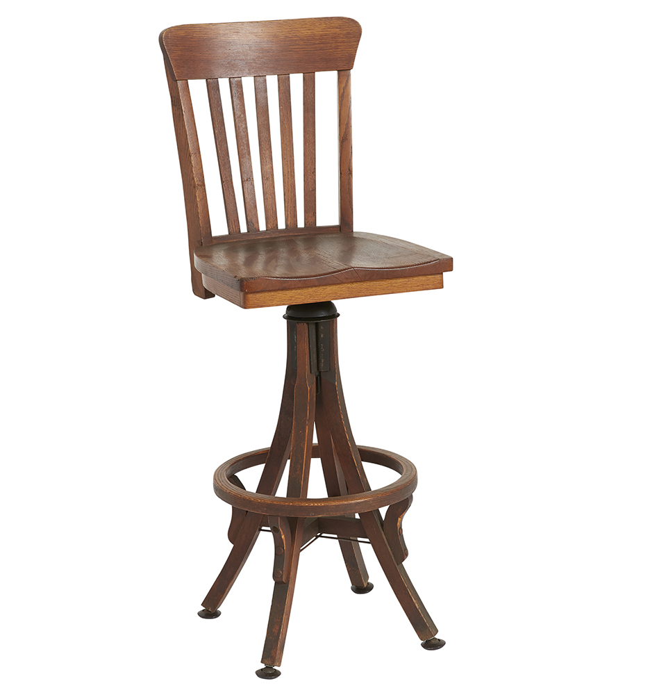 Wondrous Solid Oak Swiveling Adjustable Drafting Stool Ocoug Best Dining Table And Chair Ideas Images Ocougorg