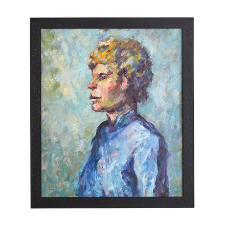 ee435b0ea83c Framed Impressionistic Portrait Oil Painting