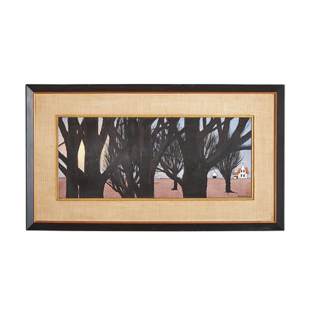 a597c2b699d9 Modernist Forested Landscape Painting by Bob Mildrexler