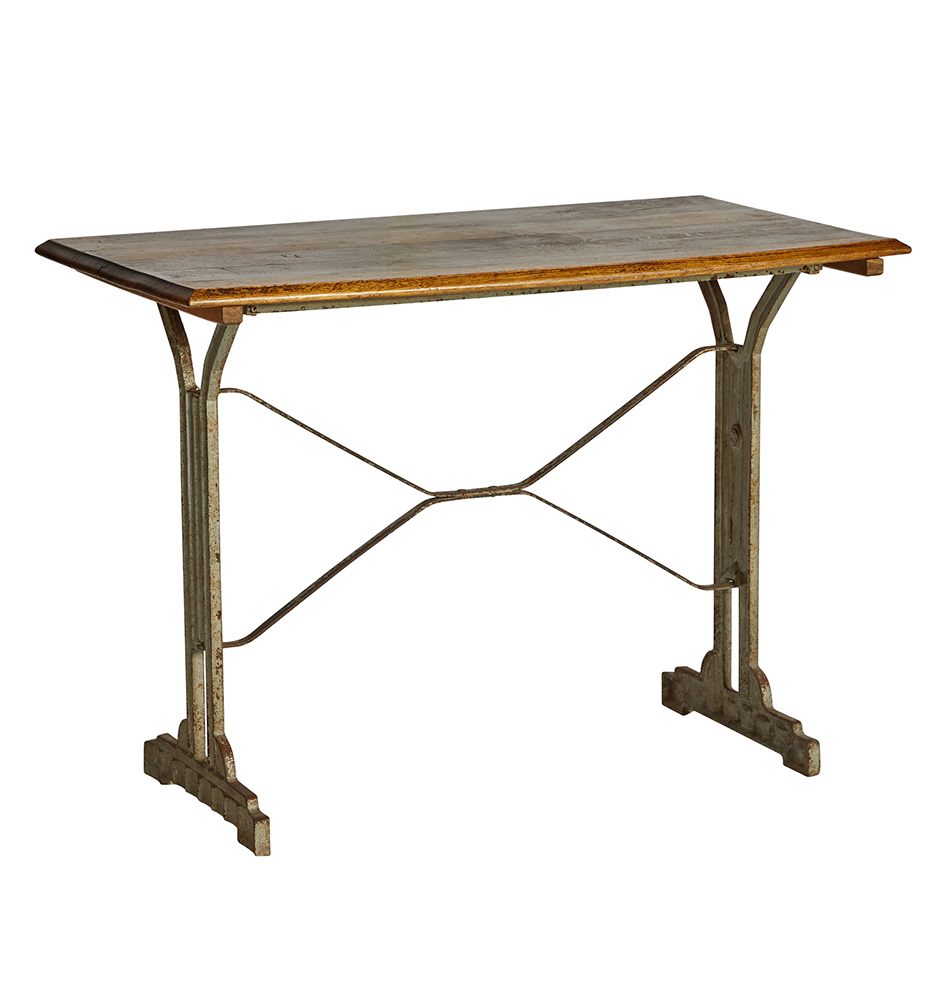 Astonishing French Art Deco Bistro Table W Iron Base Best Image Libraries Weasiibadanjobscom