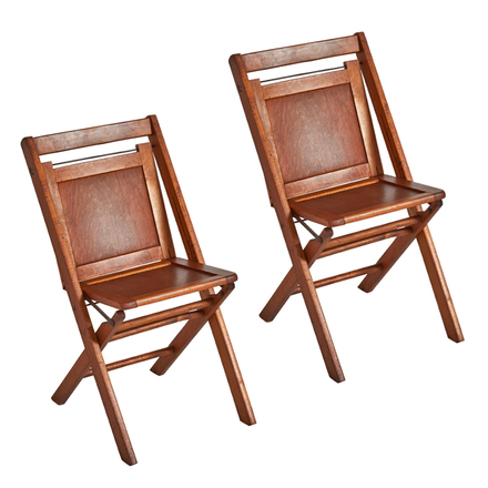 Pleasant Pair Of Maple Paneled Folding Chairs Squirreltailoven Fun Painted Chair Ideas Images Squirreltailovenorg