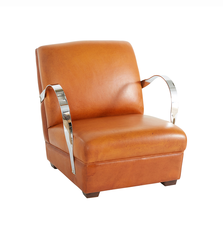 Awesome Art Deco Original Chrome Leather Lounge Chair Theyellowbook Wood Chair Design Ideas Theyellowbookinfo