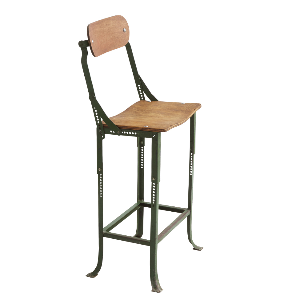 Cool Adjustable Metal And Plywood Stool W Back Gamerscity Chair Design For Home Gamerscityorg
