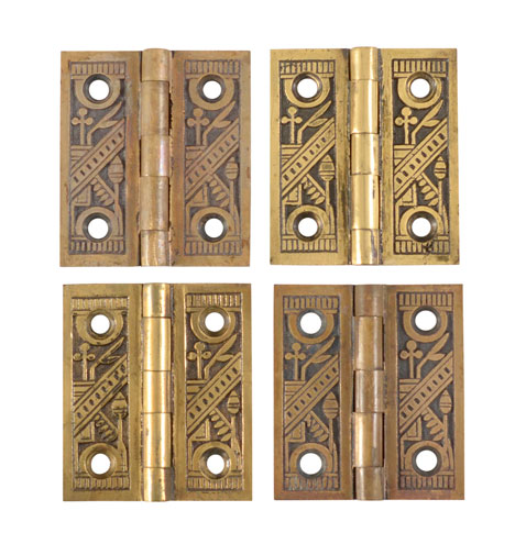 Set Of 4 Ornate Brass Shutter Hinges Rejuvenation
