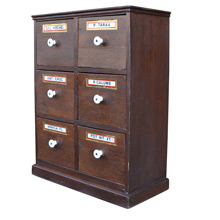 Delightful Well Preserved Petite Apothecary Spice Cabinet