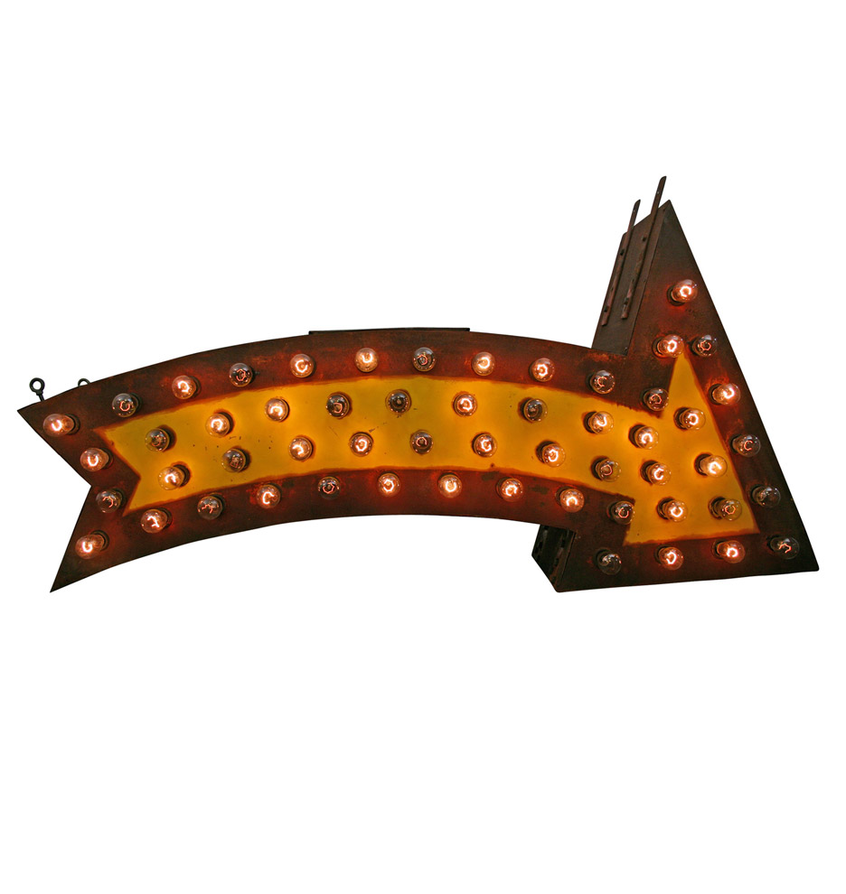 Perfectly Aged Lighted Carnival Arrow | Rejuvenation