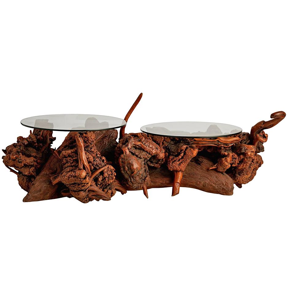 Burl Coffee Table Mid Century: Mid-Century Burl Coffee Table