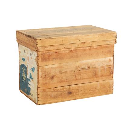 Japanese Cedar Tea Crate W/ Paper Label
