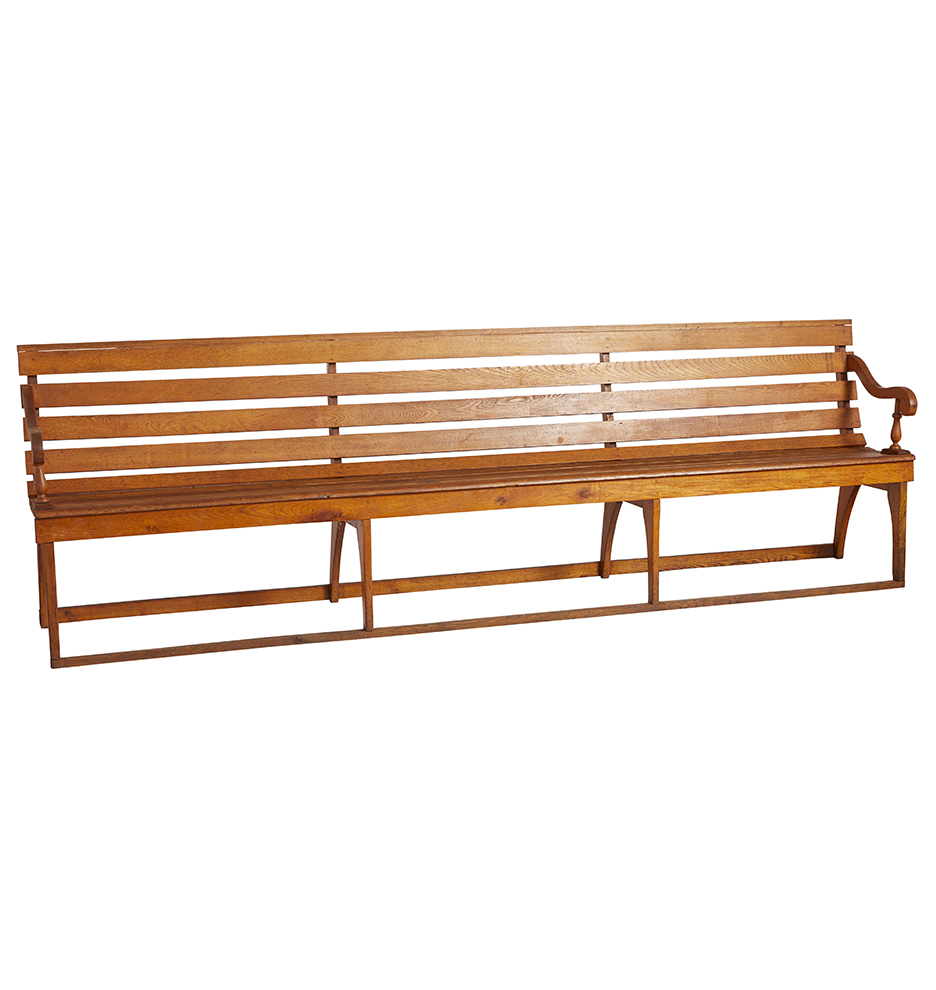Incredible Long Slated Wooden Bench Onthecornerstone Fun Painted Chair Ideas Images Onthecornerstoneorg