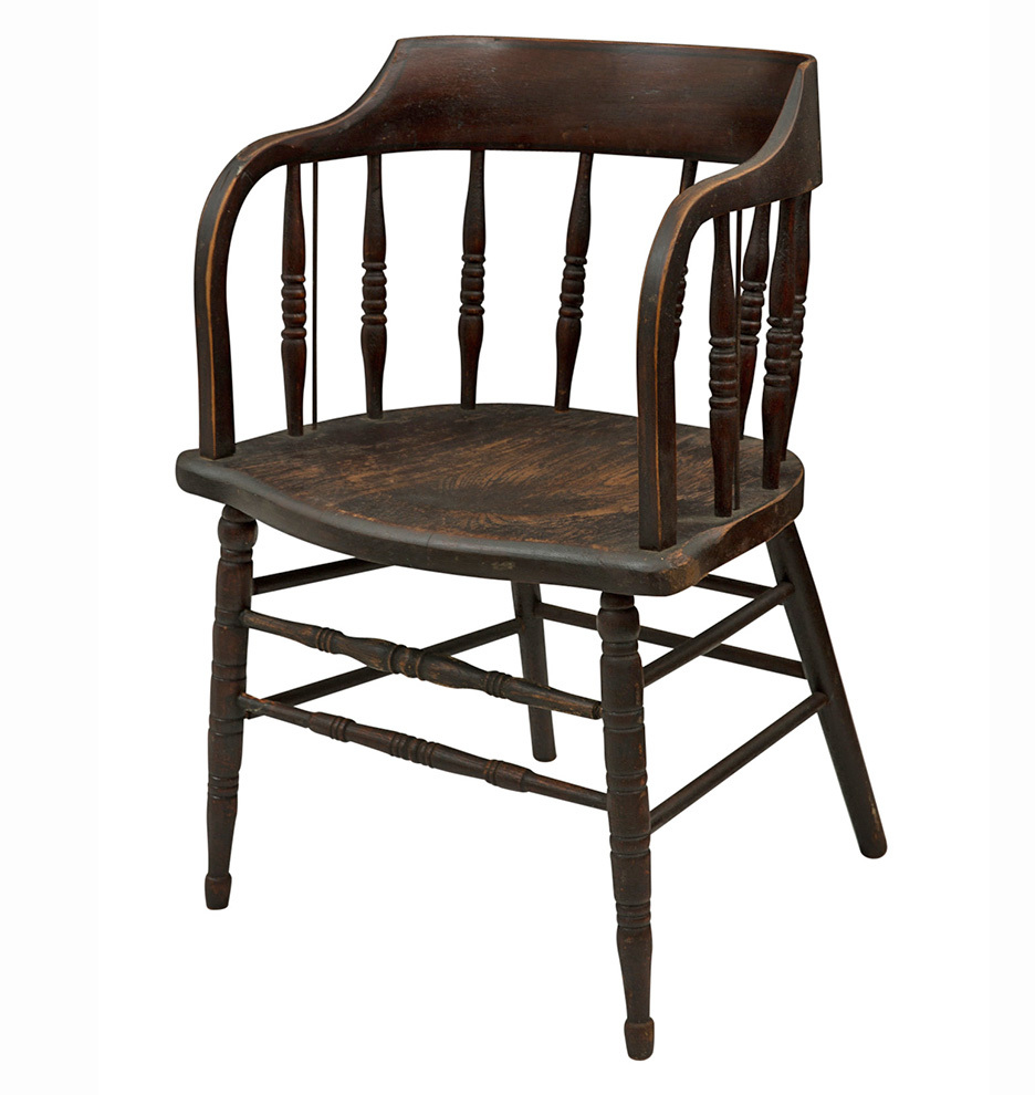Set of 4 Dark Stained LowBack Windsor Chairs Rejuvenation