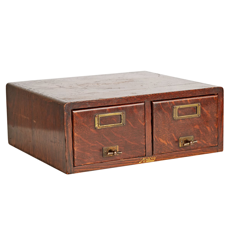 ... Two Drawer Oak Filing Cabinet By Macey. F8330 Wk28 170810 02 F8330