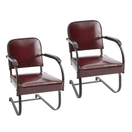 Reupholstered KEM Weber Armchairs