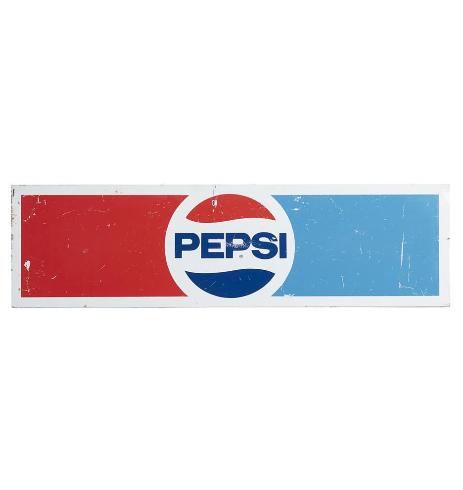 Antique signs vintage signs rejuvenation large vintage pepsi sign w painted logo buycottarizona