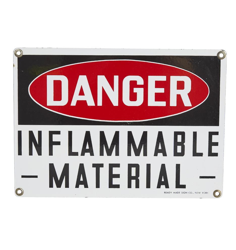 Antique signs vintage signs rejuvenation porcelain enamel danger inflammable material sign rubansaba
