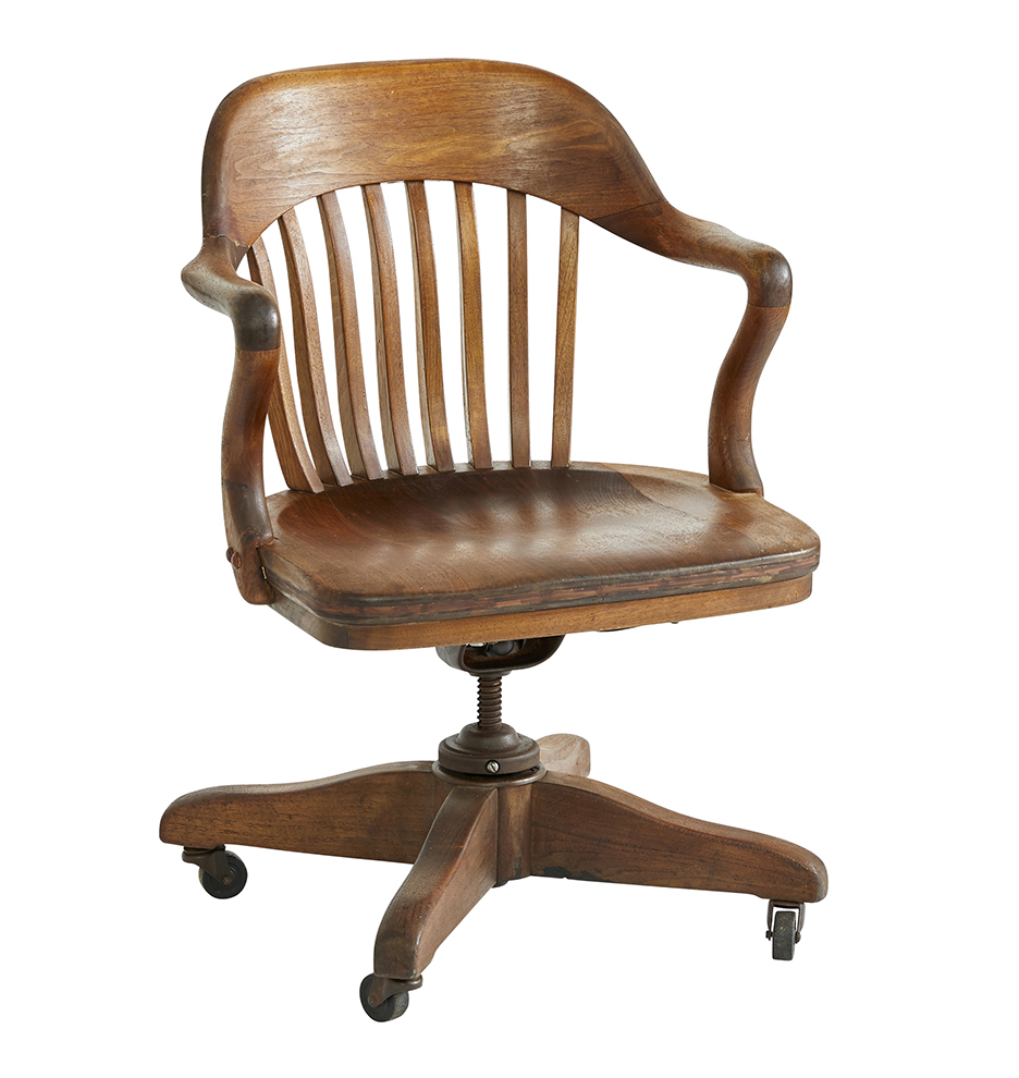 the best attitude 83d37 42d3c Wooden Office Chair w/ Casters