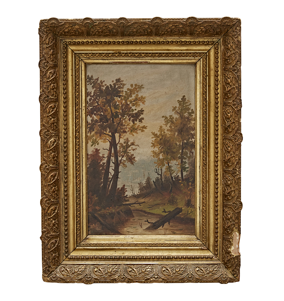 Small Landscape Oil Painting in Original Gilt Frame | Rejuvenation