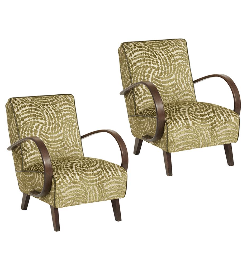 Pair Of Art Deco Lounge Chairs By Jindrich Halabala Rejuvenation