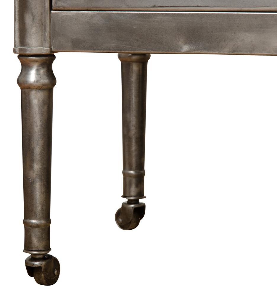 vintage industrial simmons metal side table. Share Your Style: #myonepiece Vintage Industrial Simmons Metal Side Table
