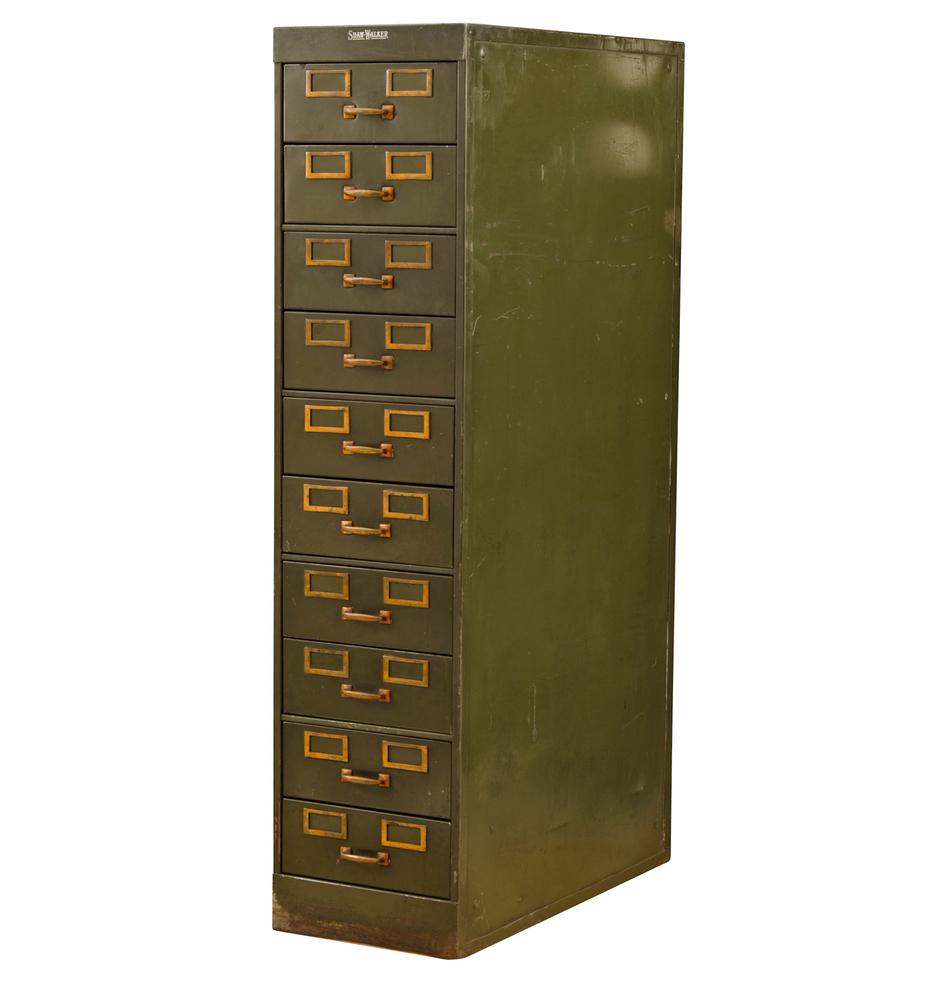 Attirant ... Vintage Case Goods; Tall Shaw Walker Filing Cabinet. F9514a F9514