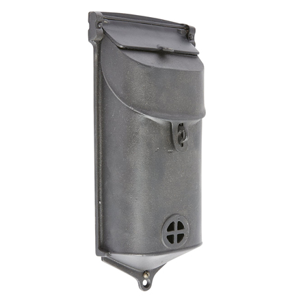 cast iron mailbox w black finish