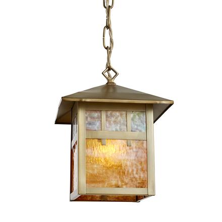 Pendant lighting vintage Outdoor Brass Mission Entry Lantern W Original Art Glass Rejuvenation Antique Lighting Vintage Pendant Lighting Rejuvenation