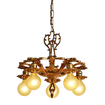 Chandeliers, Sconces & Lighting Fixtures Architectural & Garden Ornate Antique Brass Light Fixture Floral Architectural Available In Various Designs And Specifications For Your Selection
