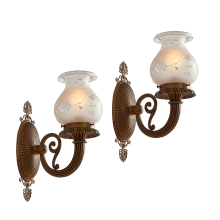 set of 2 Arts /& Crafts Hand Hammered Wall Sconces w//out Hardware