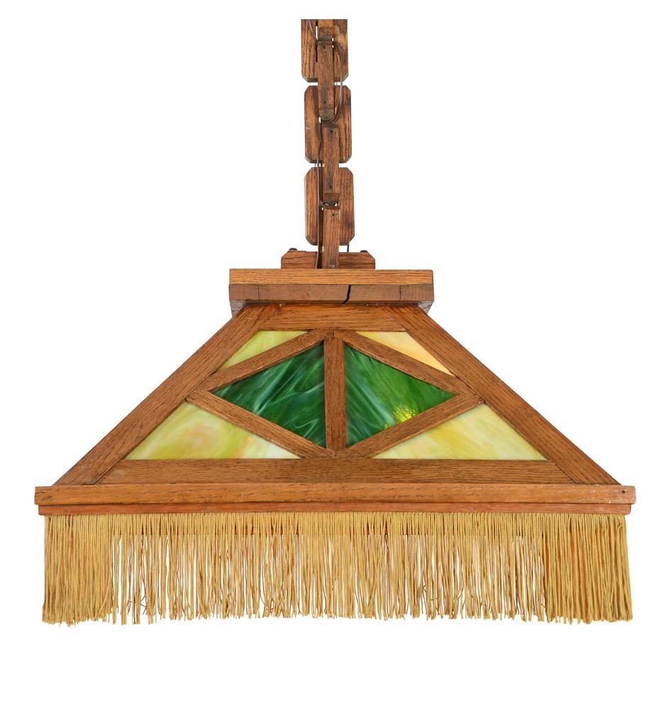 Wb brown oak mission dome light wart glass fringe rejuvenation r1913 arubaitofo Gallery