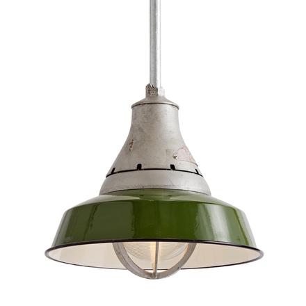 Antique lighting vintage pendant lighting rejuvenation crouse hinds industrial pendant w green enamel shade aloadofball Image collections