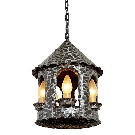 Antique lighting vintage pendant lighting rejuvenation large 5 light wrought steel romance revival lantern pendant aloadofball Choice Image