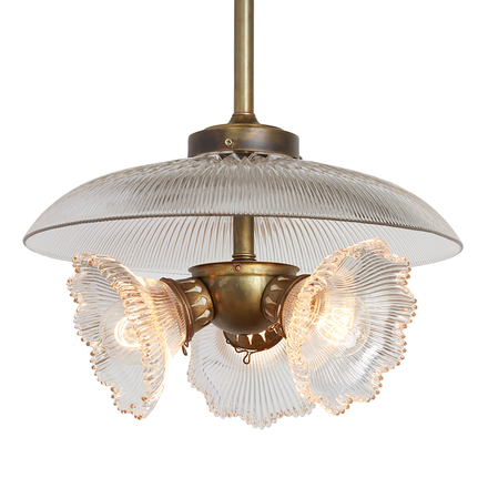 Antique lighting vintage pendant lighting rejuvenation benjamin arc burst holophane cluster pendant aloadofball Choice Image