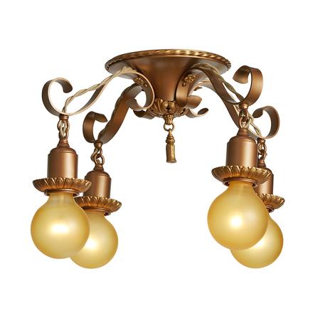 4 light fixture t12 strapstyle 4light fixture w bronze finish antique ceiling lights vintage rejuvenation