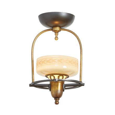 Sweet And Simple Art Deco Entry Hoop Light